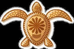 Polynesian Turtle Sticker