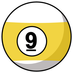 Pool Ball Number Icon Sticker