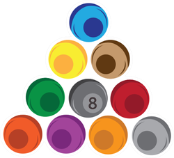 Pool Balls Clip Art Design Sticker