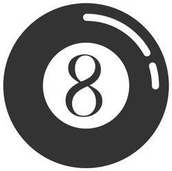 Pool Eight Ball Icon Sticker