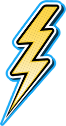 Pop Art Lightning Bolt Sticker