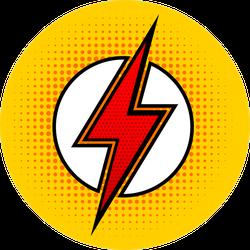 Pop Art Lightning Sticker