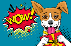 Pop Art Style Wow Dog Sticker
