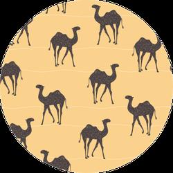 Pop Art Vintage-inspired African Camel Sticker