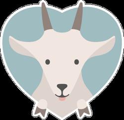 Portrait Of A Goat In Love Sticker
