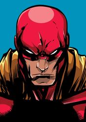 Portrait Of A Powerful Superhero Sticker