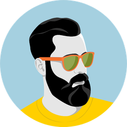 Portrait Of Handsome Young Bearded Hipster Man Sticker