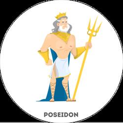 Poseidon Ancient Greek Sticker