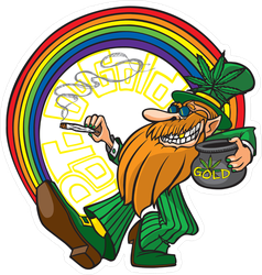 Pot O Gold Leprechaun Sticker