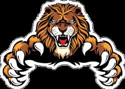 Pouncing Lion Sticker