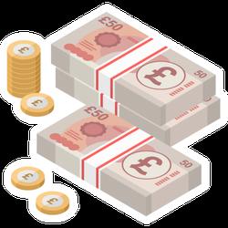Pound Sterling Banknotes Sticker