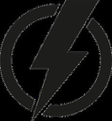 Power Icon Lightning Bolt Sticker