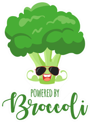 Powered By Broccoli Sticker