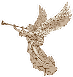 Powerful Angel Blowing Trumpet Sticker