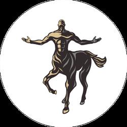 Powerful Centaur Warrior Stickers