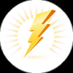 Powerful Lighting Symbol Sticker