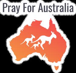 Pray For Australia Kangaroo Sticker