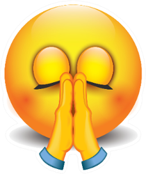 Praying Emoji - Folded Hands Sticker