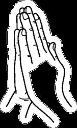 Praying Hands Doodle Sticker