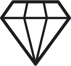 Pretty Diamond Vector Sticker