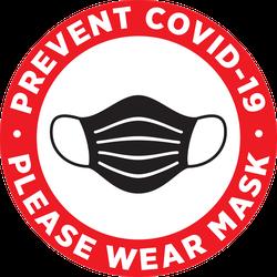 Prevent Covid-19 Wear a Mask Sticker