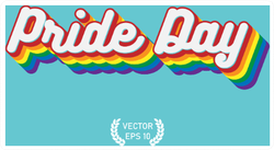 Pride Day Text Sticker