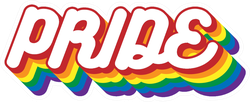 Pride Month Bubble Letter Sticker