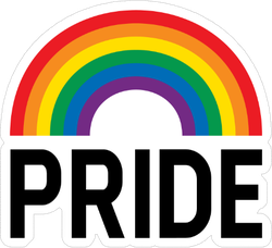 Pride Month Rainbow Celebration Sticker