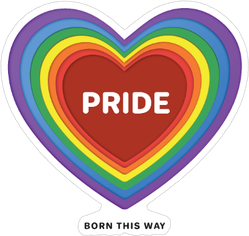 Pride Month Rainbow Sticker