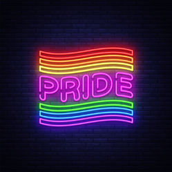 Pride Neon Text Sticker
