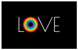 Pride Rainbow Flag Love Sticker