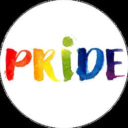 Pride Rainbow Watercolor Sticker