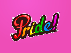 Pride Word Sticker