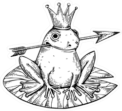 Prince Frog Fairy Tale Sticker
