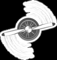 Propeller Of Airplane Sketch Sticker