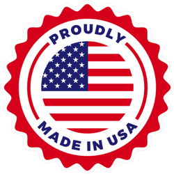 Proudly Made In USA Seal Sticker
