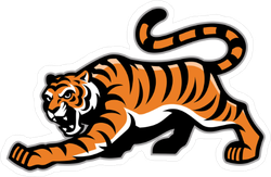 Prowling Tiger Mascot Sticker