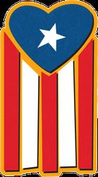 Puerto Rican Heart Flag Sticker