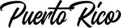 Puerto Rico Script Sticker