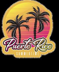 Puerto Rico Summertime Vintage Sticker