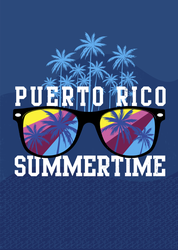 Puerto Rico Sunglasses Sticker