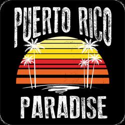 Puerto Rico Sunset Paradise Sticker