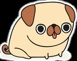 Pug Dog Cartoon Sticker