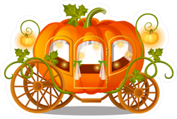 Pumpkin Carriage Sticker