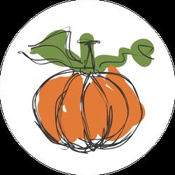 Pumpkin Scribble Sticker