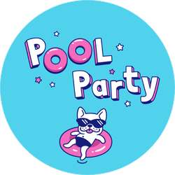 Pupper Pool Party Sticker