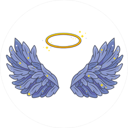 Purple Angel Wings Sticker