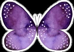 Purple & Black Watercolor Butterfly with White Spots Sticker