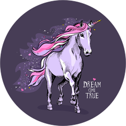 Purple Dream Come True Unicorn Sticker