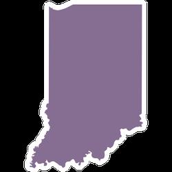 Purple Illustration Of Indiana Map Sticker